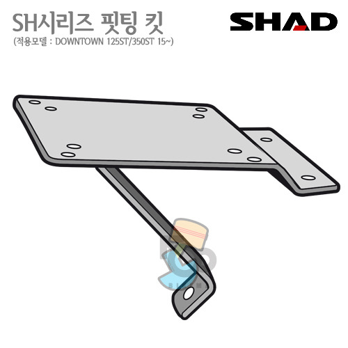 SHAD   탑케이스 핏팅킷DOWNTOWN  125ST/300ST   15~   샤드 탑박스 입점!!