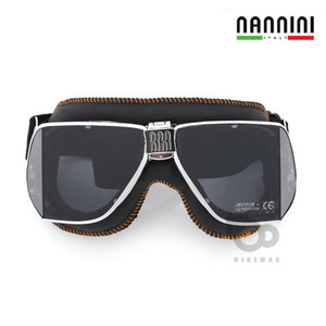 NANNINI  CUSTOM WITH  ORANGE SEWING   - chrome/black -  난니니고글입점!!