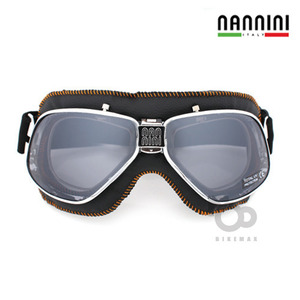 NANNINI  CRUISER WITH ORANGE SEWING   - chrome/black -  난니니고글입점!!